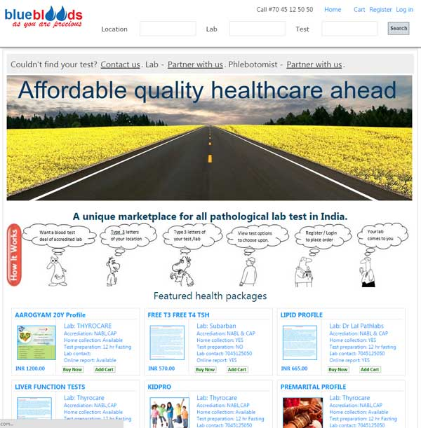 Healthcare eCommerce webdevelopment in company india