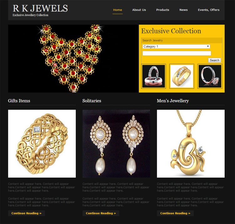 eCommerce for gold jewellery